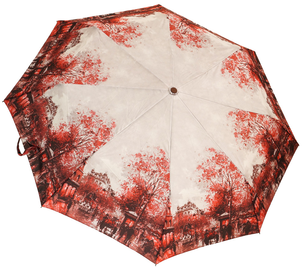 Роскошный женский зонт SH02689AC red