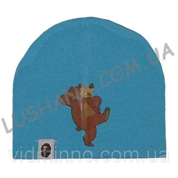 Трикотажная шапочка Маша и Медведь на 1-3 года