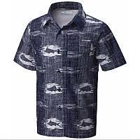 Мужская рубашка Columbia TROLLERS BEST™ SHORT SLEEVE SHIRT  синяя  FM7011 471