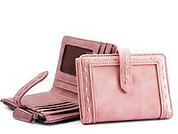 Женский маленький кожаный кошелек. портмоне