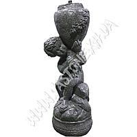 """Скульптура садовая """"Мальчик с кувшином"""" Гранит серый"""