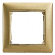 Рамка 1-местная, матовое золото, Legrand Valena Легранд Валена