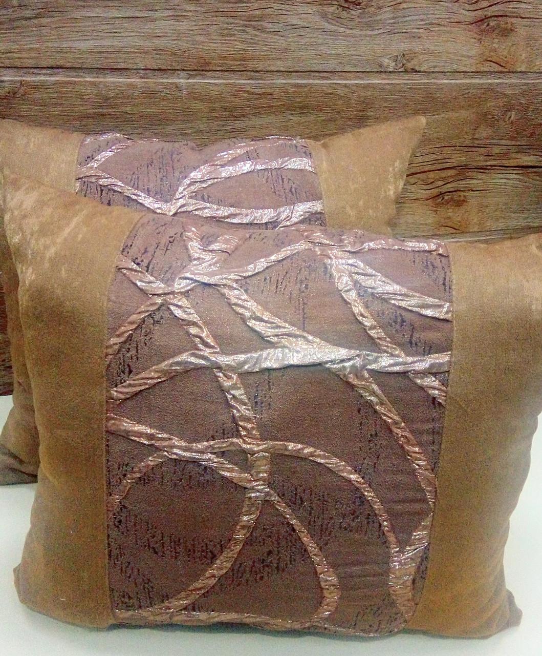 """Подушка  """"Респект"""" коричневая, размер 40х40см"""