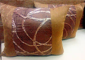 "Подушка  ""Респект"" коричневая, размер 40х40см , фото 2"