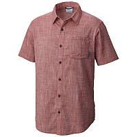Мужская рубашка Columbia UNDER EXPOSURE™ YARN DYE SHORT SLEEVE SHIRT терракотовая  AM1238 808