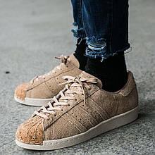 Оригинальные женские кроссовки Adidas Superstar 80s Cork