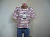 Новинка! футболка женская свободный крой! в наличии! 44-48 р!