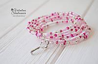 Браслет мемори розовый, фото 1