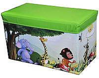 """Пуф-короб для игрушек """"Динозары"""""""