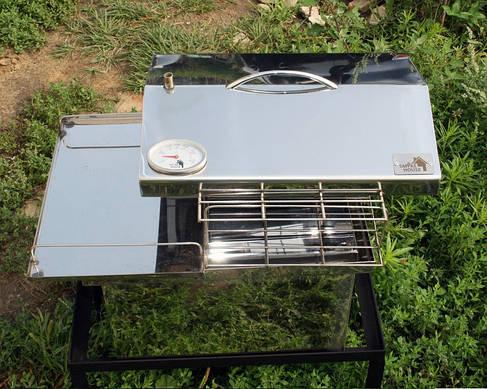 Коптильня 400х300х310 мм домик с термометром, фото 2