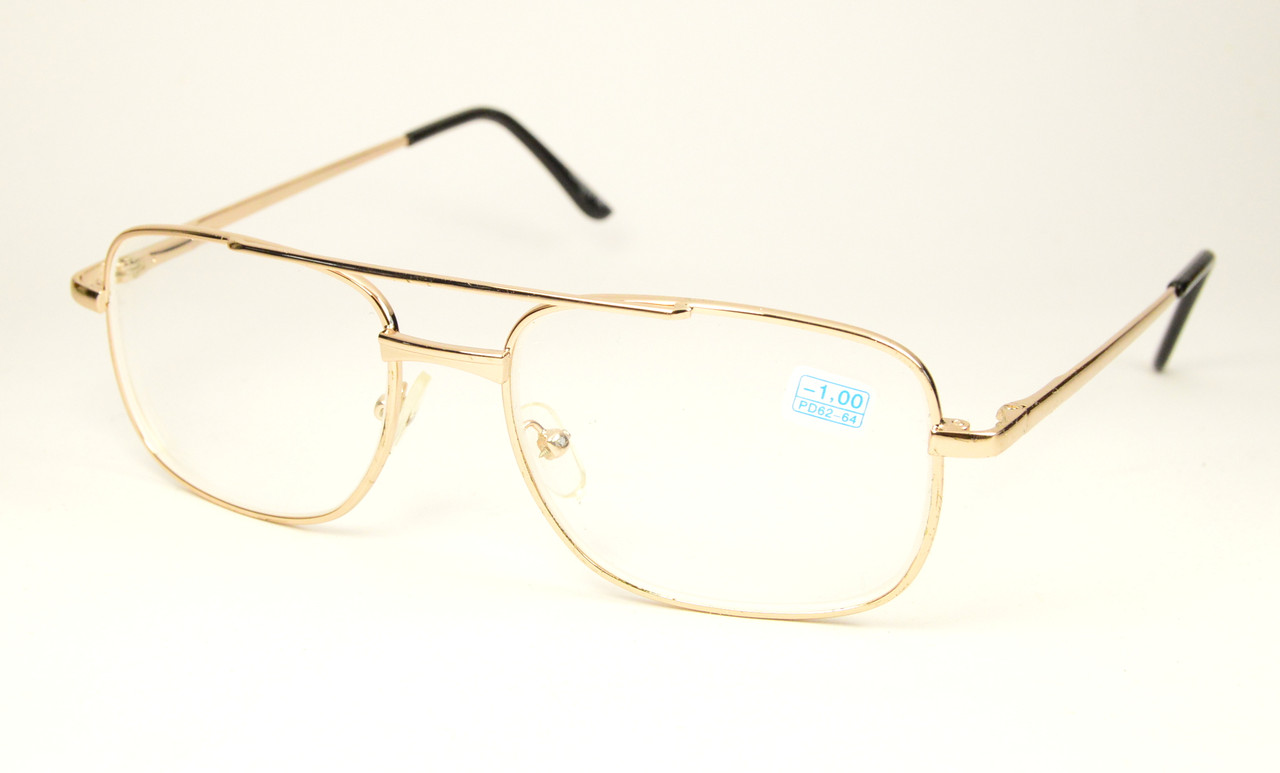 Очки мужские минуса стекло (4033/4032 зол)