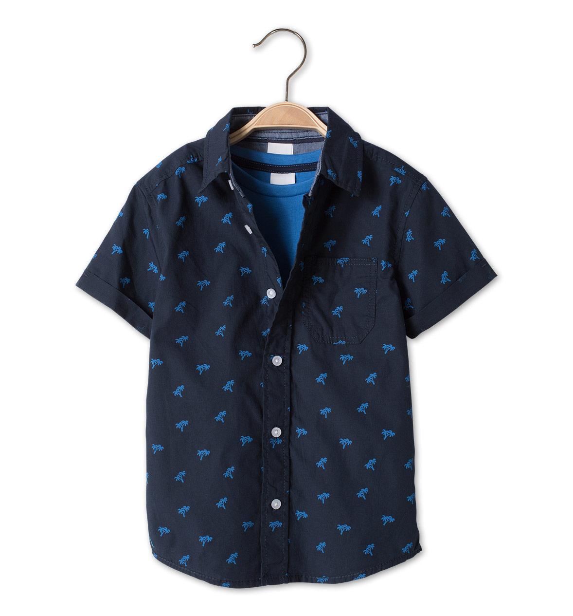 Летний набор рубашка и футболка на короткий рукав для мальчика 5 лет C&A Германия Размер 110