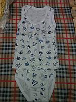 Комплект белья с рисунком для мальчика: маечка и трусики, материал кулир. От 1 до 6 лет