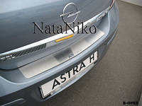 Накладка на задний бампер Opel VIVARO 2001- из нержавеющей стали