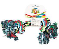 Игрушка для собак CaniAMici канат грейфер 2 узла, 18 см, 50 г