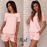Летний костюм шорты и футболка, розовый