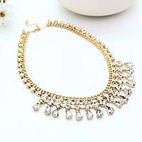 Колье ожерелье ювелирная бижутерия позолоченное 3536