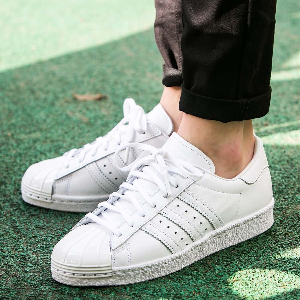 Оригинальные женские кроссовки Adidas Superstar 80s Metal Toe