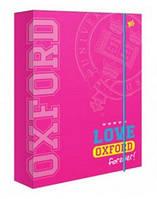 Папка для зошитів В5 Yes Oxford рожевий на гумці 491291