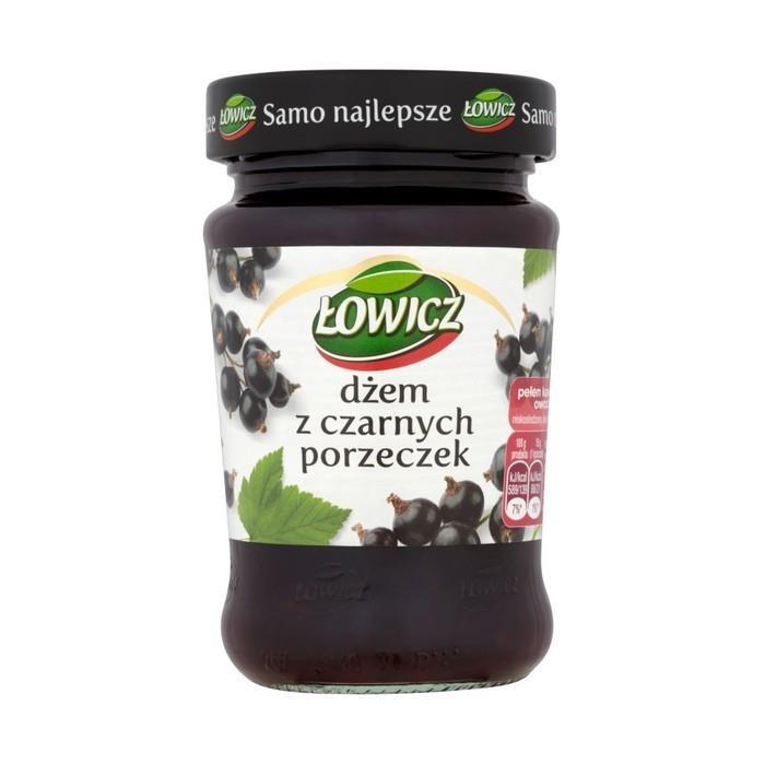 Джем из смородины Lowicz Dzem Czarnych Porzeczec, 280 грамм
