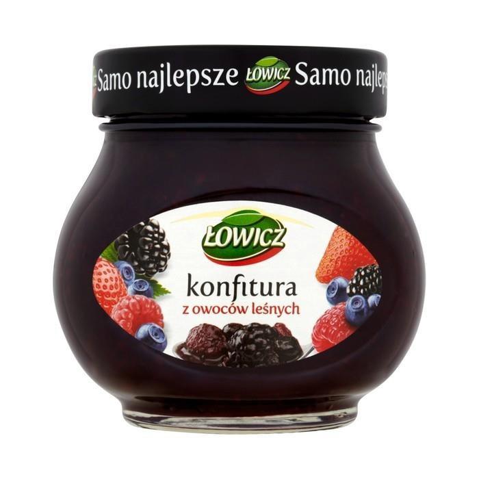 """Конфитюр со вкусом лесных ягод """"Lowicz"""", 240 грамм"""