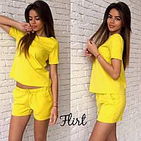 Летний костюм шорты и футболка, желтый