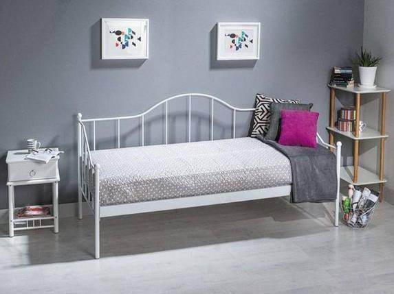 Металева ліжко-диван біла Signal Dover 90х200см для підлітка в спальню, фото 2