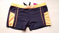 Плавки-шорты для мальчика с оранжевой резинкой, р. 38-46