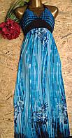 Сарафан в пол Дарья 13402 голубой