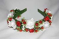Веночек для волос Ганна розы+красный
