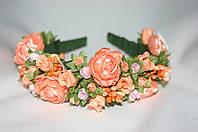 Веночек для волос Ганна розы персик