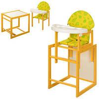 Стульчик-трансформер для кормления 2 в 1 +столик со стульчиком VIVAST