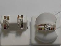 Комплект из серебра и золота  с цирконами Симона, фото 1