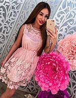 Платье женское из кружева с пояском