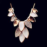 Колье ожерелье ювелирная бижутерия позолоченное 3531