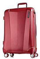 Пластиковый большой 4-колесный чемодан 108 л. MARCH Vision 3321/02, красный