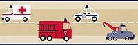 Бордюр в детскую флизелиновый Fire truck Giggle