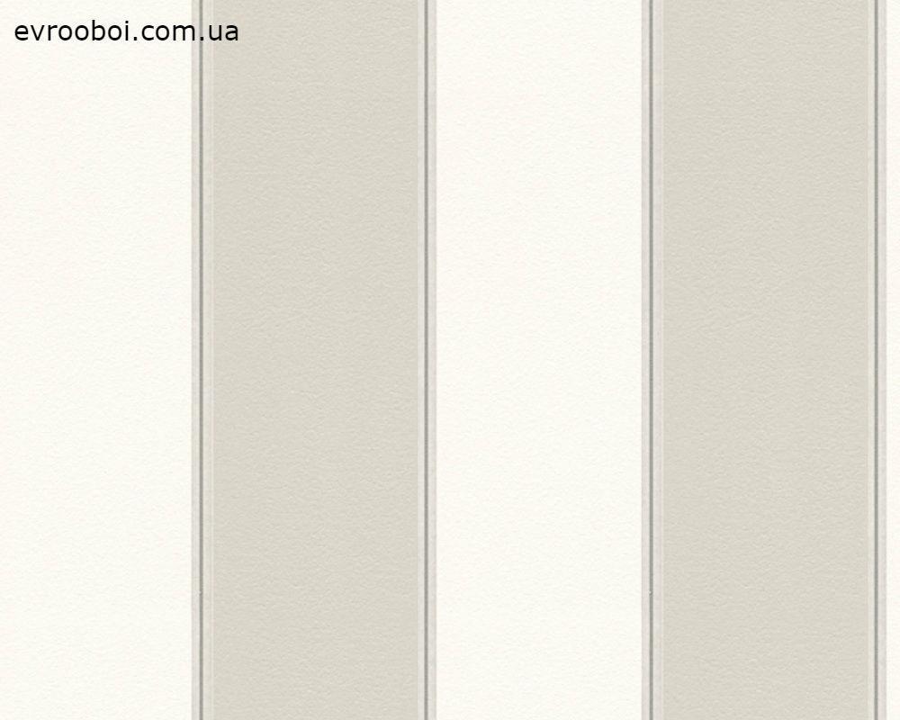 Обои моющиеся, в полоску, белые, флизелиновые 304595.