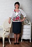 """Блузочка женская летняя из микромасла больших размеров """"ЖЕМЧУГ"""". От производителя - швейная фабрика., фото 2"""