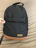 Рюкзак для школы Levis R-50 (черный+рыжее дно)