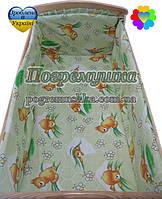Защита в детскую кроватку - Соты - Зеленый