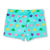 Голубые шорты Сердце для девочки Childrens Place 3Т, 4Т, 5Т