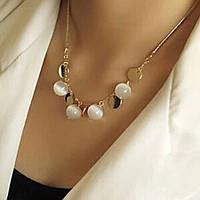 Колье ожерелье ювелирная бижутерия позолоченное 3523
