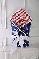 """Двухсторонний конверт-одеяло на выписку Лето """"Морской"""""""