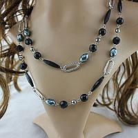 Ожерелье ювелирная бижутерия покрытие серебро 3511