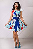 Яркое Летнее Платье с Юбкой Солнце XS-L