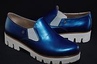 Женские кожаные туфли на тракторной подошве Bertoni