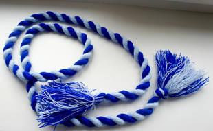 Пояс веревка синего цвета