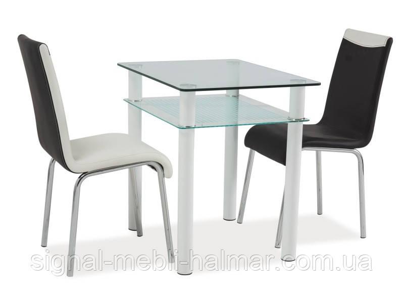 Стол стеклянный Sono  80x60 SIGNAL