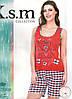Пижама с шортами KSM №9006
